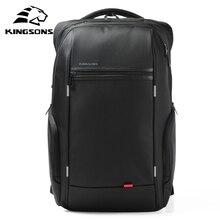 كينغسونز 15 بوصة محمول الظهر USB شحن مكافحة سرقة حقيبة الظهر الرجال حقيبة السفر طارد المياه الحقائب المدرسية الذكور Mochila
