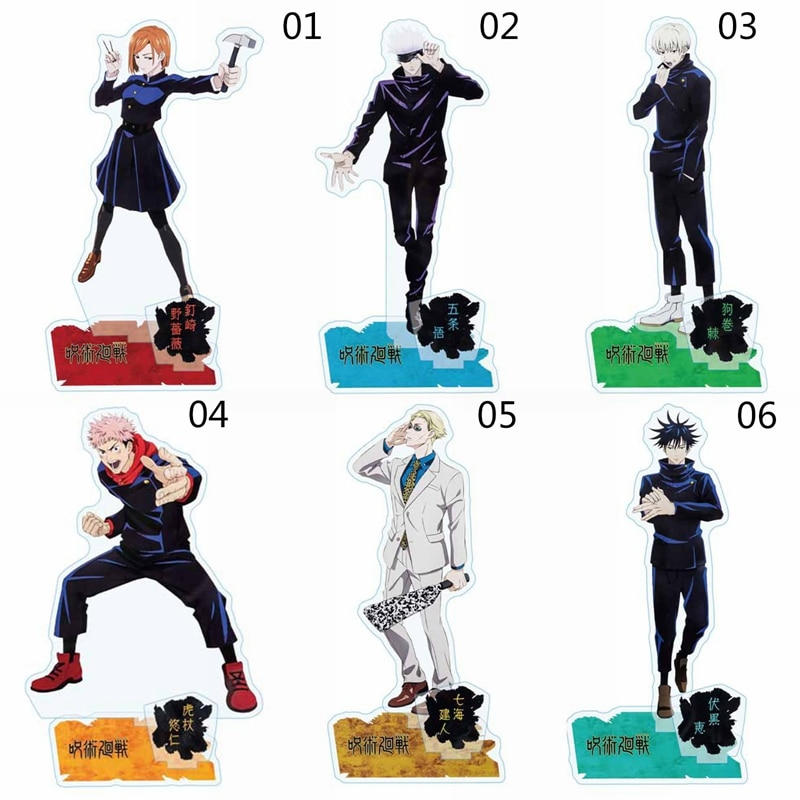 Topper-Toys Figure Acrylic-Stand Cake Gift Jujutsu Desktop-Decor Anime Kids Kaisen Cool