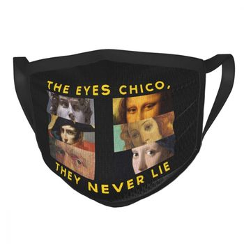 The Eyes Chico David Michelangelo Van Gogh Depression Reusable Face Mask Anti Haze Dustproof Mask Protection Respirator Muffle image