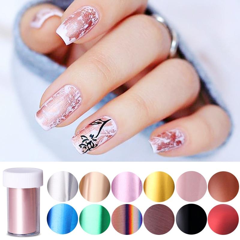 Цветные наклейки для ногтей цвета шампанского и розового золота переводные