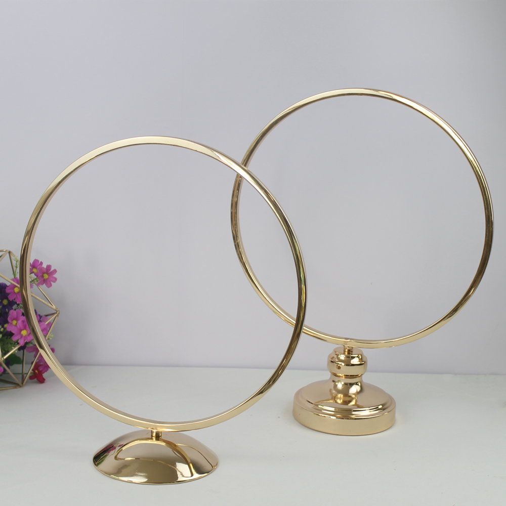 10 PCS Round Ring Arch Wedding Table Centerpieces Metal Artificial She (3)