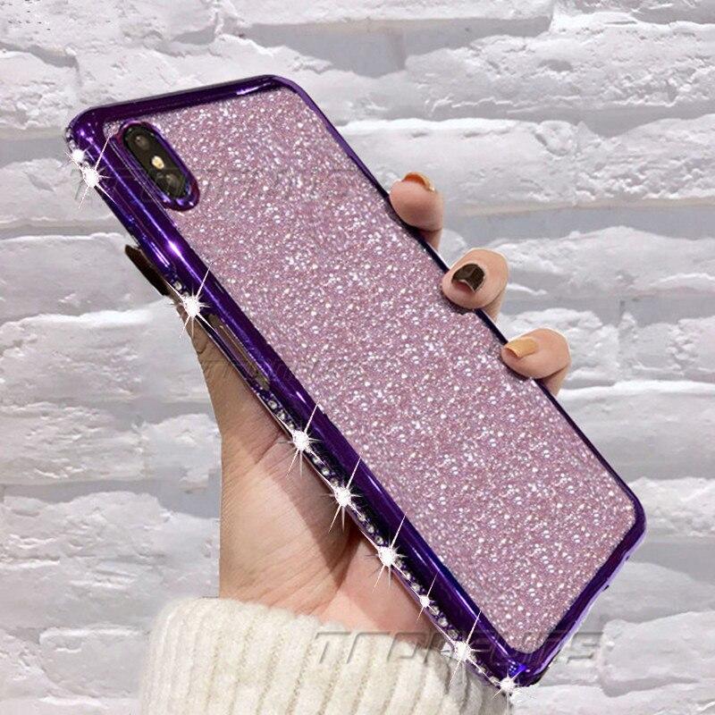 Glitter Diamond Case For Redmi Note 7 8 Pro Cases Bling Rhinestone Soft TPU Silicone Phone Case For Xiomi Mi 9T K20 Pro Cover