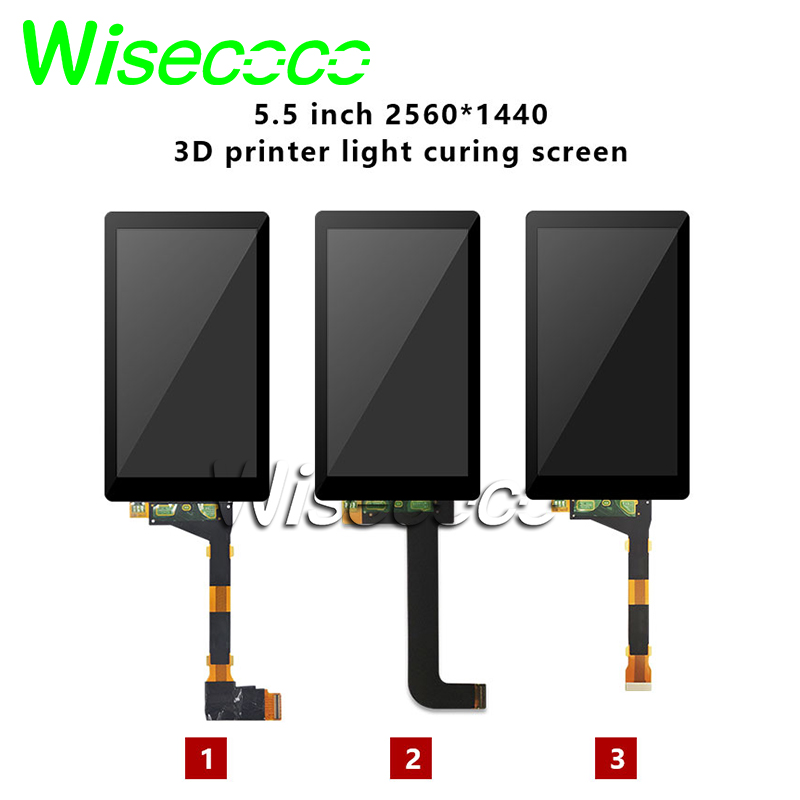 5.5 Photon S 2K LCD Light curing display screen Tempered Glass protector Removed backlight for SLA DLP 3d printer Raspberry Pi 3(China)