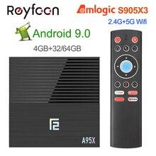 Smart TV Box Android 9.0 A95X F2 Amlogic S905X3 4GB 64GB 32G