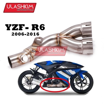 Motorcycle Exhaust Muffler Escape Mid Pipe Applicable To 2006 To 2016 Years YZF-R6 Motorcycle Modification To The Original