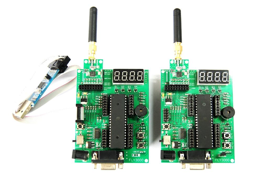 AVR Wireless Transceiver Development Board Mega16 NRF905 NRF24L01 CC1101 Si4432