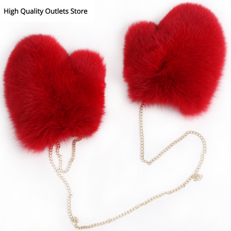 Fox Fur Gloves Ladies Fur Gloves Women Real Fox Fur Gloves Full Pelt Fur
