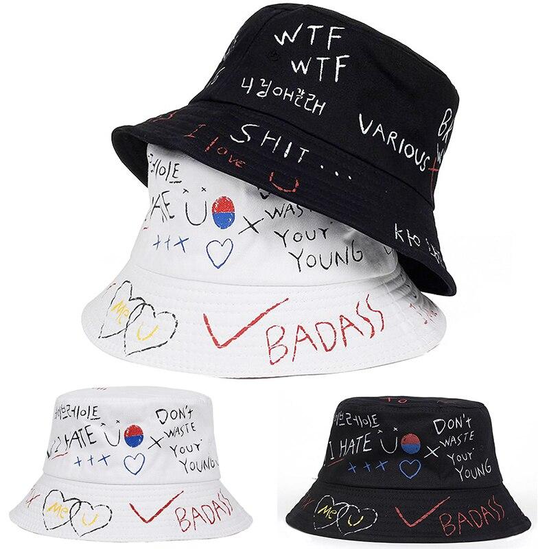 Unisex Harajuku Bucket Hat Fishing Outdoor Hip Hop Cap Men's Summer For Fisherman Hat Women  Bone Feminino