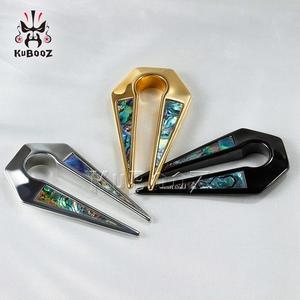 Image 5 - Kubooz Piercing Hot Selling Gold Shell Oor Clip Rvs Oor Piercing Meters Expander Lichaam Sieraden Paar Selling