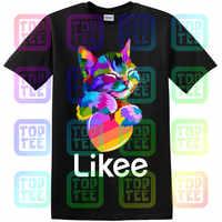 Likee app t-shirt likee herz cat shirt 2019 kühlen t shirt spaß t