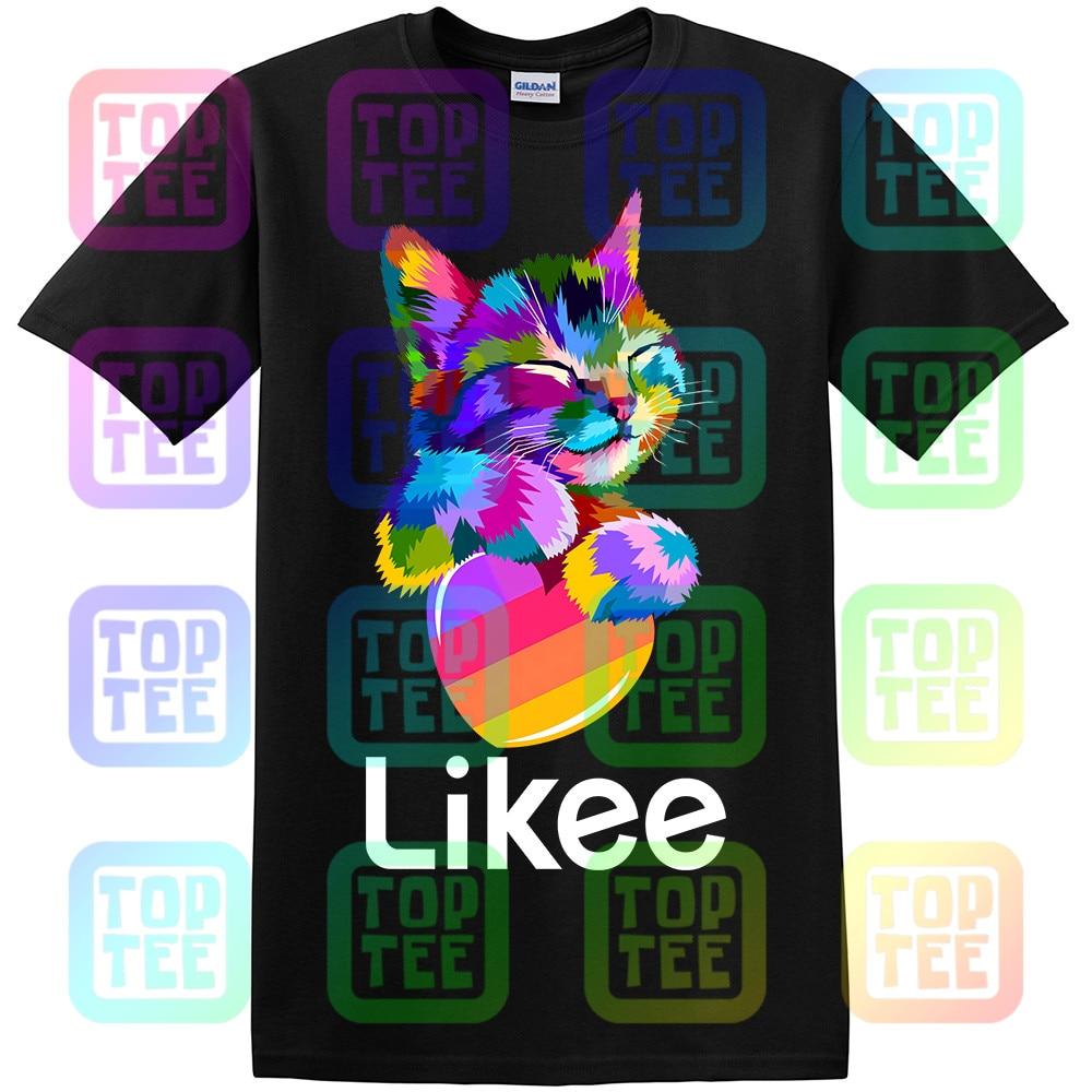 likee app t-shirt likee heart cat shirt 2019 cool t shirt fun tee