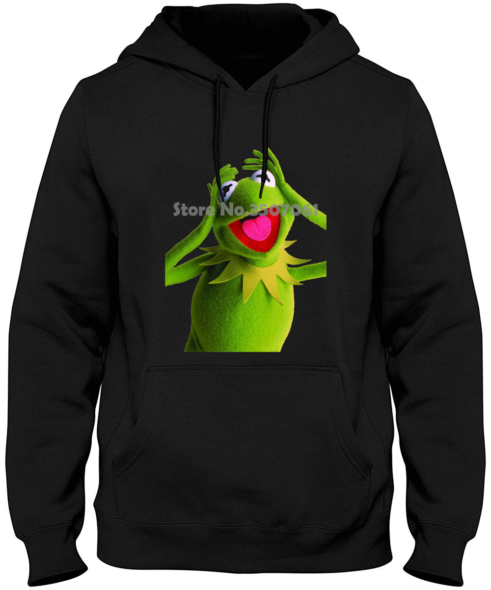 The Muppets Kermit The Frog Funny Cool Looking Unisex White  Long Sleeve Casual PrintedSize S 3xl Punk Hoodies & Sweatshirts