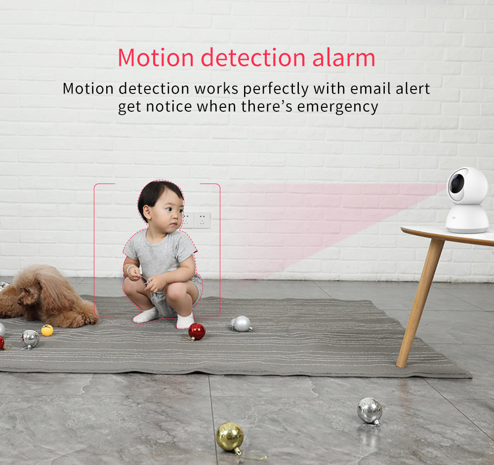 Hot DealsXiaomi Smart-Camera Video 1296P Voice-Wifi Baby-View Night-Vision 1080P 360-Angle PTZ