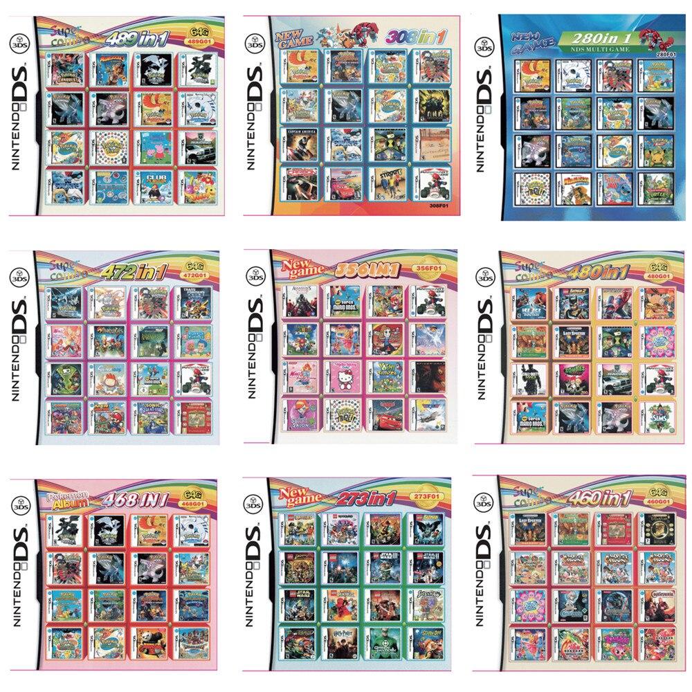 Все в 1 подборка видео игровая карта-картридж Для Nintendo DS NDS супер комбо Мульти to Cart