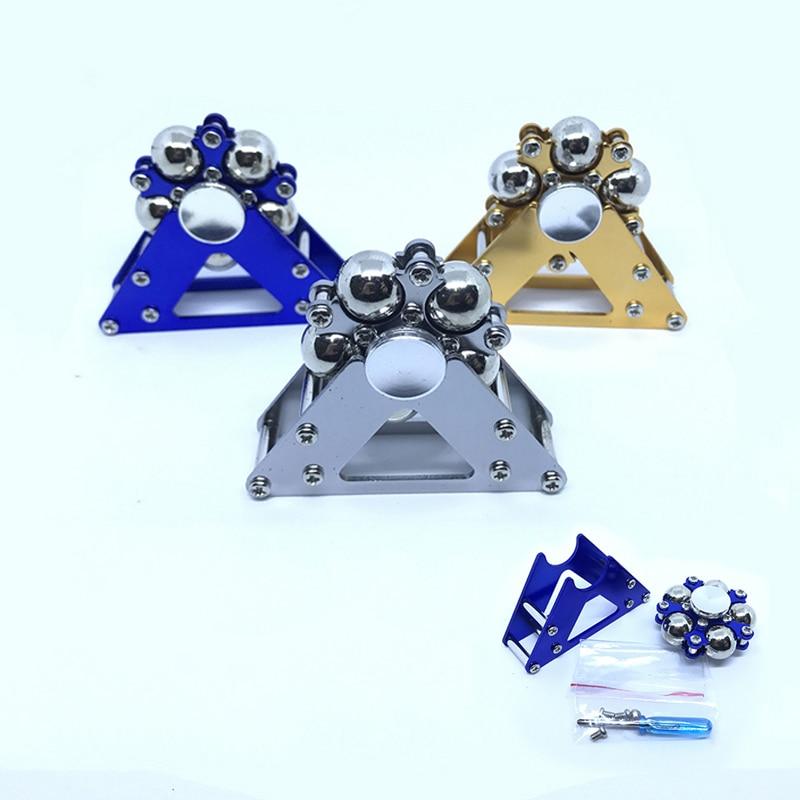 1PC Metal Five Bead Ferris Wheel Fingertip Gyroscope Stainless Steel Ball Bracket Finger Gyro Anti Stress Fidget Spinner