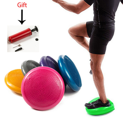 Inflatable Yoga Balance Mat Double Sided Massage Point Foot Massage Fitness Exercise Equipment Twister Gym Yoga Balance Board