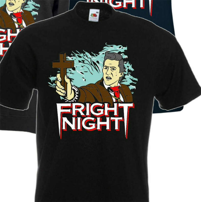 Fright Night Peter Vincent Retro 80s Horror Movie T Shirt Hoodie Novelty Breathable Tee Shirt image