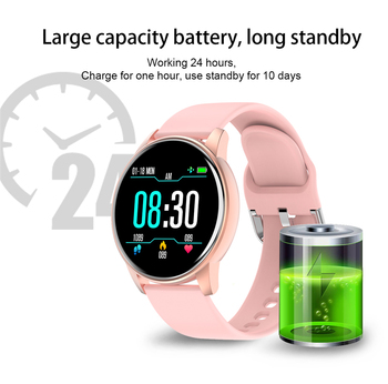 Women Smart Watch Real-time Weather Forecast Activity Tracker Heart Rate Monitor Sports Ladies Smart Watch Men For Android IOS 4