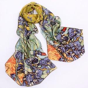Image 2 - 46 Designs 2019 Van Gogh Oil Painting Silk Scarf Women & Men Scarf 100% Real Silk Scarves Female Luxury Designer Scarves