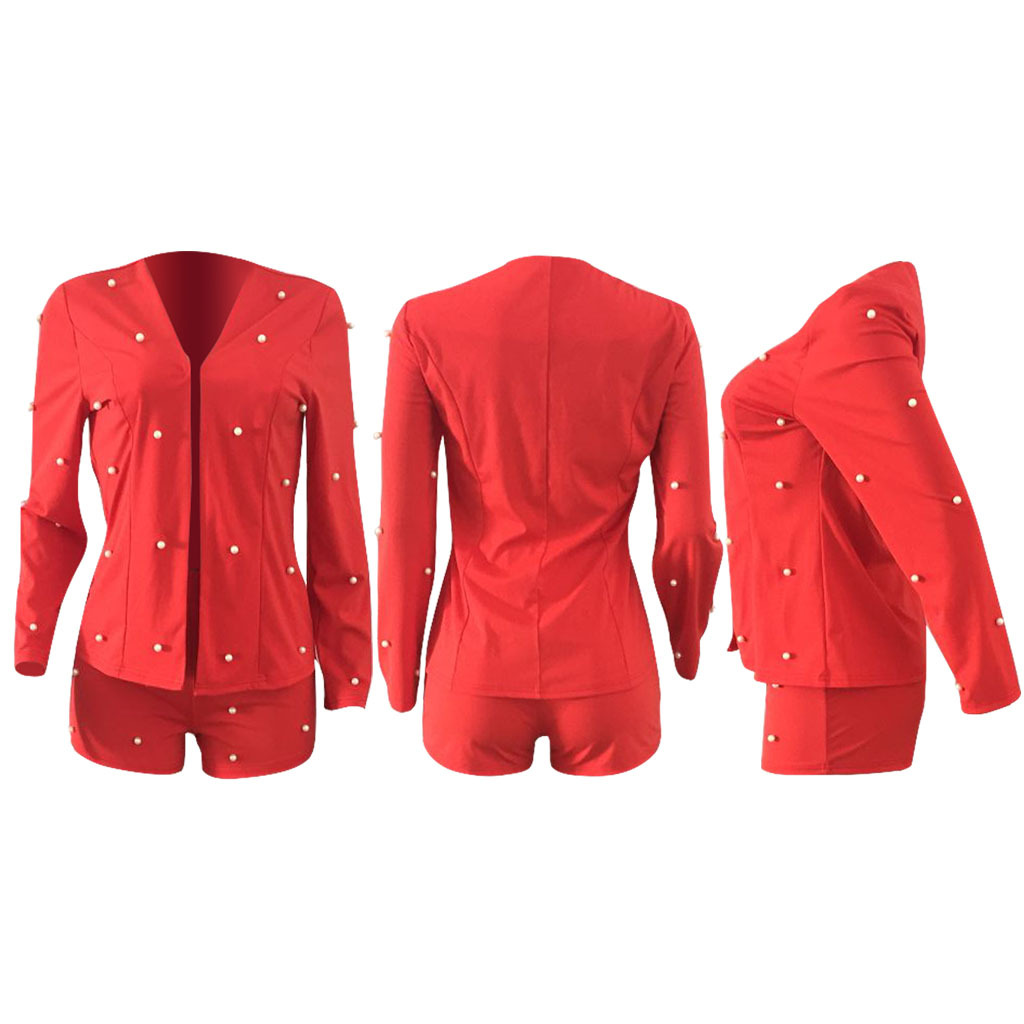 Ruffle Blazer Pants Set Office Lady Cardigan Blazer Full Sleeve Two Piece Set Women Party Vestidos Business Uniform Outfits