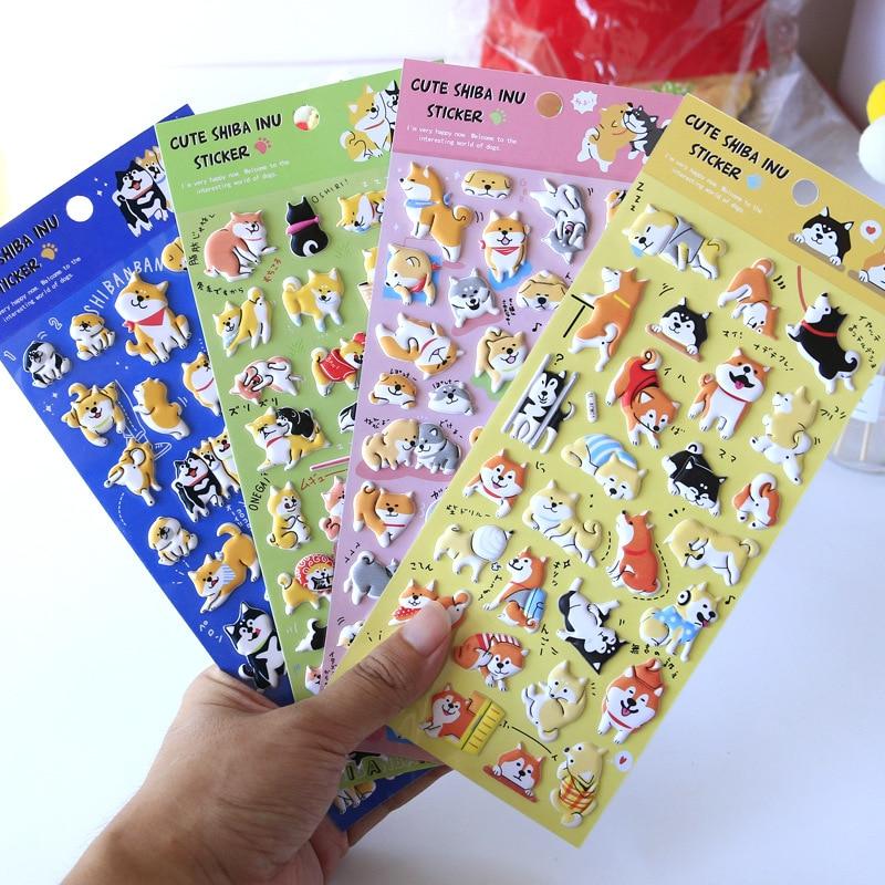 1set /1lot Kawaii Stationery Stickers Japanese Style Shiba Inu Decorative Mobile Stickers Scrapbooking DIY Craft Stickers