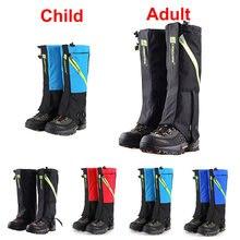 Unisex polainas de neve à prova dunisex água perna cobre escalada acampamento caminhadas esqui criança perna aquecedores bota sapato legging gaiter pernas proteção