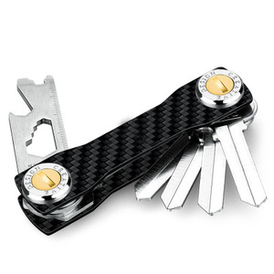 Image 2 - Modern   Brand 100% Carbon DIY Keychain Key Chain Key Smart Wallet EDC Pocket Key Holder Key Organizer housekeeper