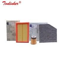Воздушный фильтр+ салонный фильтр+ Масляный фильтр 3 шт. для Mercedes Benz C-CLASS W205 A205 C205 S205 2013- C160 C180 C200 C250 C300 C350E