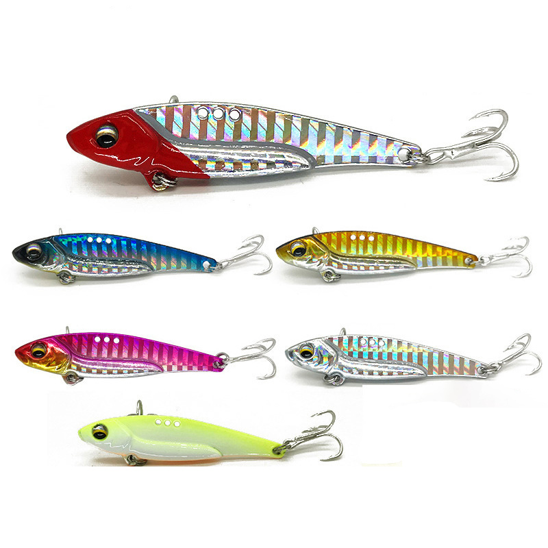 Long Shot 3D Eyes Metal Vib Blade Lure 8/13/16/20G Sinking Vibration Baits Artificial Vibe for Bass Pike Perch Fishing