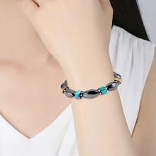 NJ Multi-color Geometric Shape Beaded Bracelets Therapy Nature Stone Round Bead & Bangles Handmade Accessories Gift