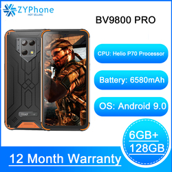 Мобильный телефон Blackview BV9800 Pro, тепловизор, 6 ГБ 128 ГБ, смартфон Helio P70, Android 9,0, водонепроницаемый, 6580 мАч, глобальная версия