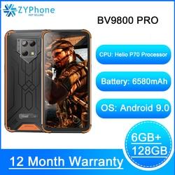Blackview BV9800 Pro Термальность изображений мобильный телефон 6 ГБ 128 Гб Смартфон Helio P70 Android 9,0 Водонепроницаемый 6580 мА/ч, глобальная версия