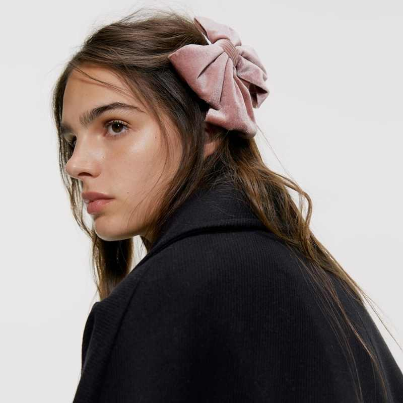 Großen Bogen Haar Krawatte Haarnadel Frauen Tiara Grün Haarspange Korea Haar Clip Pin Vintage Ornamente Bowknot Samt Haar Zubehör Geschenke