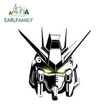 EARLFAMILY 13cm x 8.1cm GUNDAM Car Sticker Helmet Motorcycle JDM Polyethylene Accessories Oem Cartoon Sunscreen Waterproof