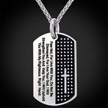Christian Holy Thing Black Bible Cross Stainless Steel Pendant Necklace For Men Sacred Pray Church Jewelry Accessories new fashion pray without ceasing bible verse christian necklace cabochon pendant inspirational jewelry women men faith gifts
