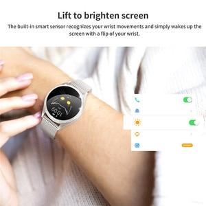 Image 5 - KW20 สมาร์ทนาฬิกาผู้หญิงIP68 กันน้ำHeart RateการตรวจสอบบลูทูธสำหรับAndroid IOSฟิตเนสสร้อยข้อมือSmartwatch
