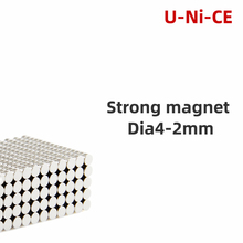 100/200 pieces 4mmX2mm strong cylinder rare earth magnet 4X2 neodymium N35 Mini small round magnets 4*2mm