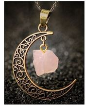 2018 / fashion hot sale design natural stone craft moon necklace new