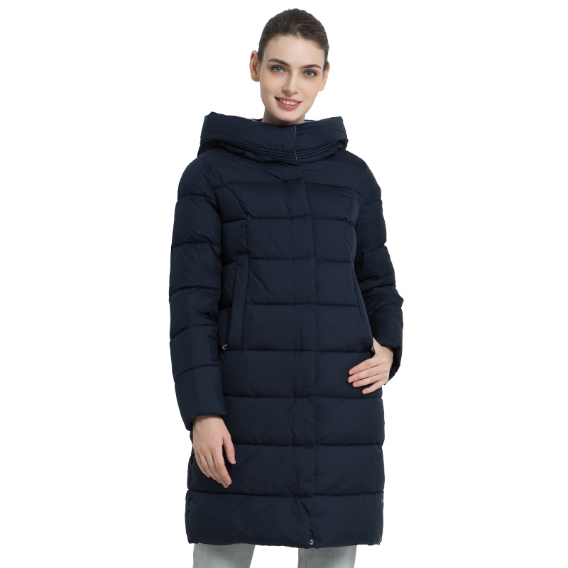 ICEbear 2019 New Winter Women's Coat Thick Warm Female Coat Long Female Hooded Jacket High Quality Women's Jacket GWD18259I