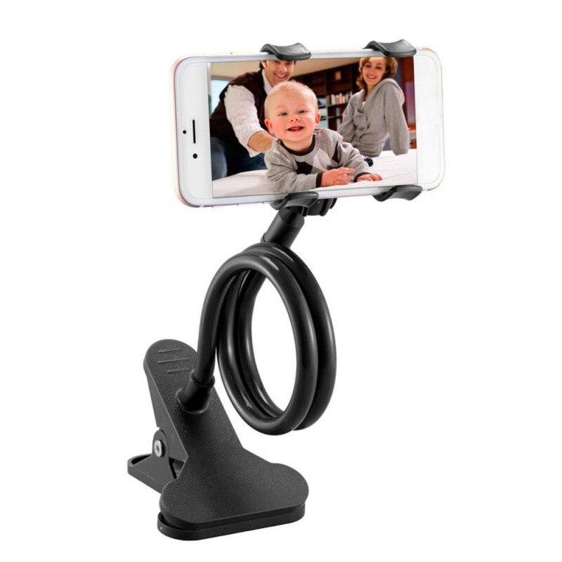 Women Men Lazy Bracket Flexible 360 Clip Mobile Phone Holder Bed Desktop Bracket Mount Stand for Bedroom Gym Office