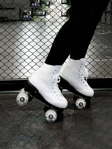 Skates Sports-Shoes Outdoor Double-Row Adult Male White And Black