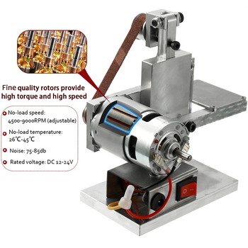 New Hot Multifunctional Grinder Mini Electric Belt Sander DIY Polishing Grinding Tool SMD66
