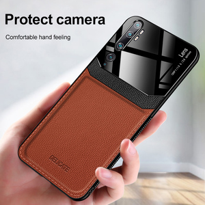 Image 4 - 10pcs/lot Back Phone Case For Xiaomi CC9 9 9SE Pro 9 Lite For Redmi 8 8A 7 Organic PC Grained Skin Pattern Leather Cover Coque