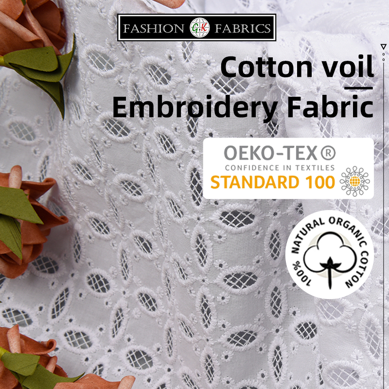 Cotton Voil Embroidery Fabric Dress Fabric Summer Embroidery Fabric Diy Sewing Fabric