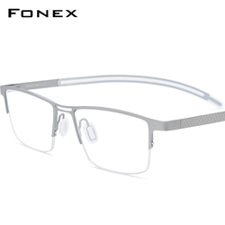 FONEX B титановая оправа для очков, мужские очки без полуоправы, квадратные очки для близорукости, оптические очки 872