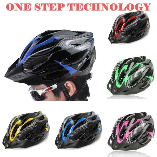 Capacetes ajustáveis de bicicleta, capacetes de ciclismo preto fosco para homens e mulheres, mountain bike e de estrada, totalmente moldados em 6 cores 3