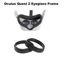 1 par preto óculos magnético quadro para oculus quest 2 vr anti-azul lente de luz proteção oculus ques 2 vr óculos acessórios