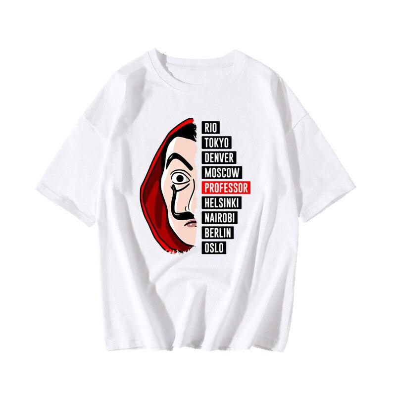 La Casa De Papel camisa De robo Cosplay disfraz imprimir La Casa De Papel camiseta mujeres hombres Salvador Dali Top camiseta Tee