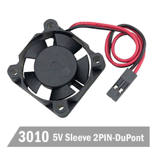 50PCS Gdstime DC 5V Dupont 2Pin Mini Cooling Brushless 3010 30MM 30x30x10mm Small Cooler Fan 1pcs gdstime dc mini cooling cooler fan ball 5v 2p 30mm 3010 30x30x10mm 14000rpm