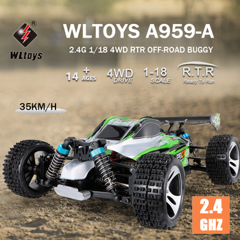 WLtoys A959-B 1:18 2.4GHz 4WD RC Car 70KM/H High Speed RC Racing Car Electric Remote Control Vehicle Off-Road Car Toys